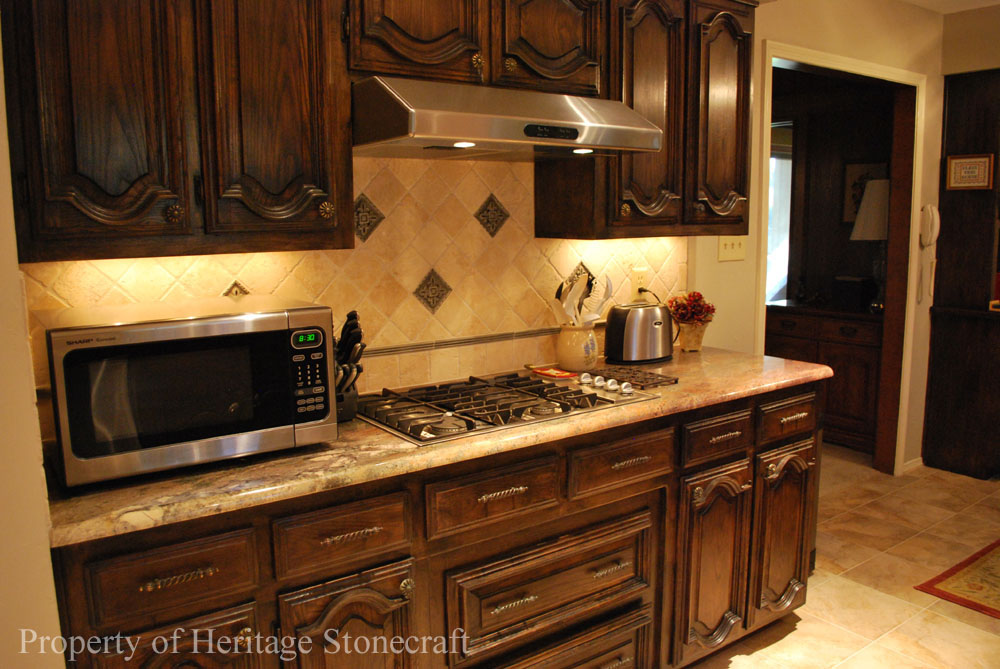 Granite countertops marble soapstone tile cabinets for Flooring before cabinets